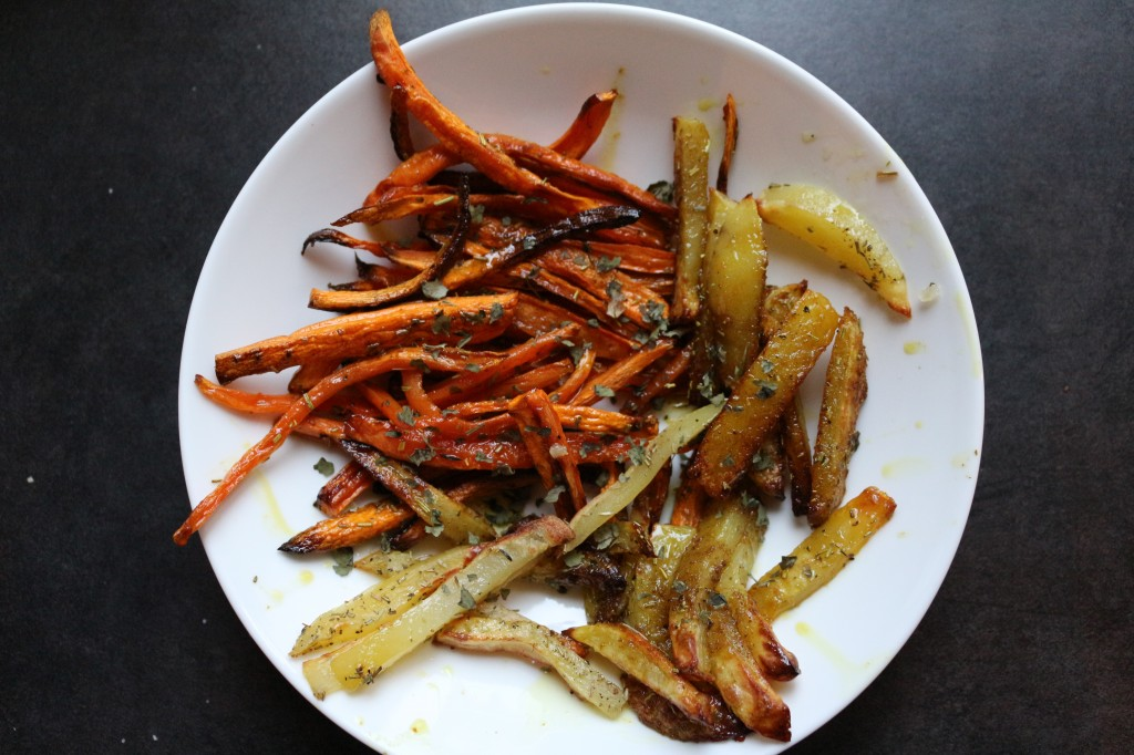 Bâtonnets de légumes rôtis