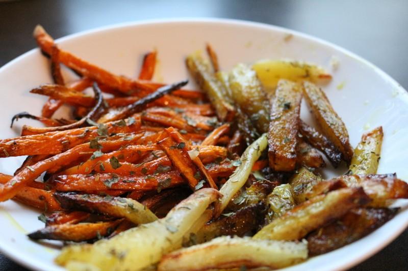 recette facile de bâtonnets de légumes rôtis