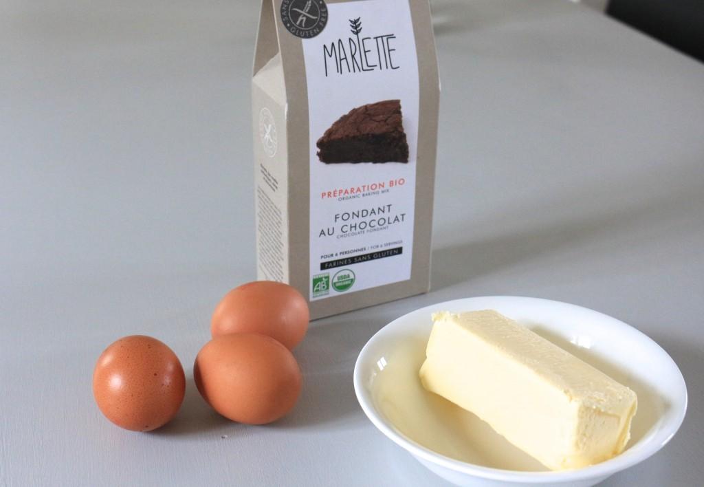 Chocolate fondant gluten free Marlette / Fondant au chocolat bio sans gluten Marlette