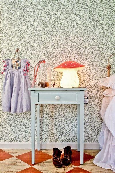 chambre enfant chez Stuart et Jane Devlin, site web de  Milk Magazine