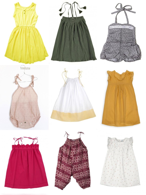 vent d'été : sélection fillettes / Girl summer dresses - Sweet Cabane