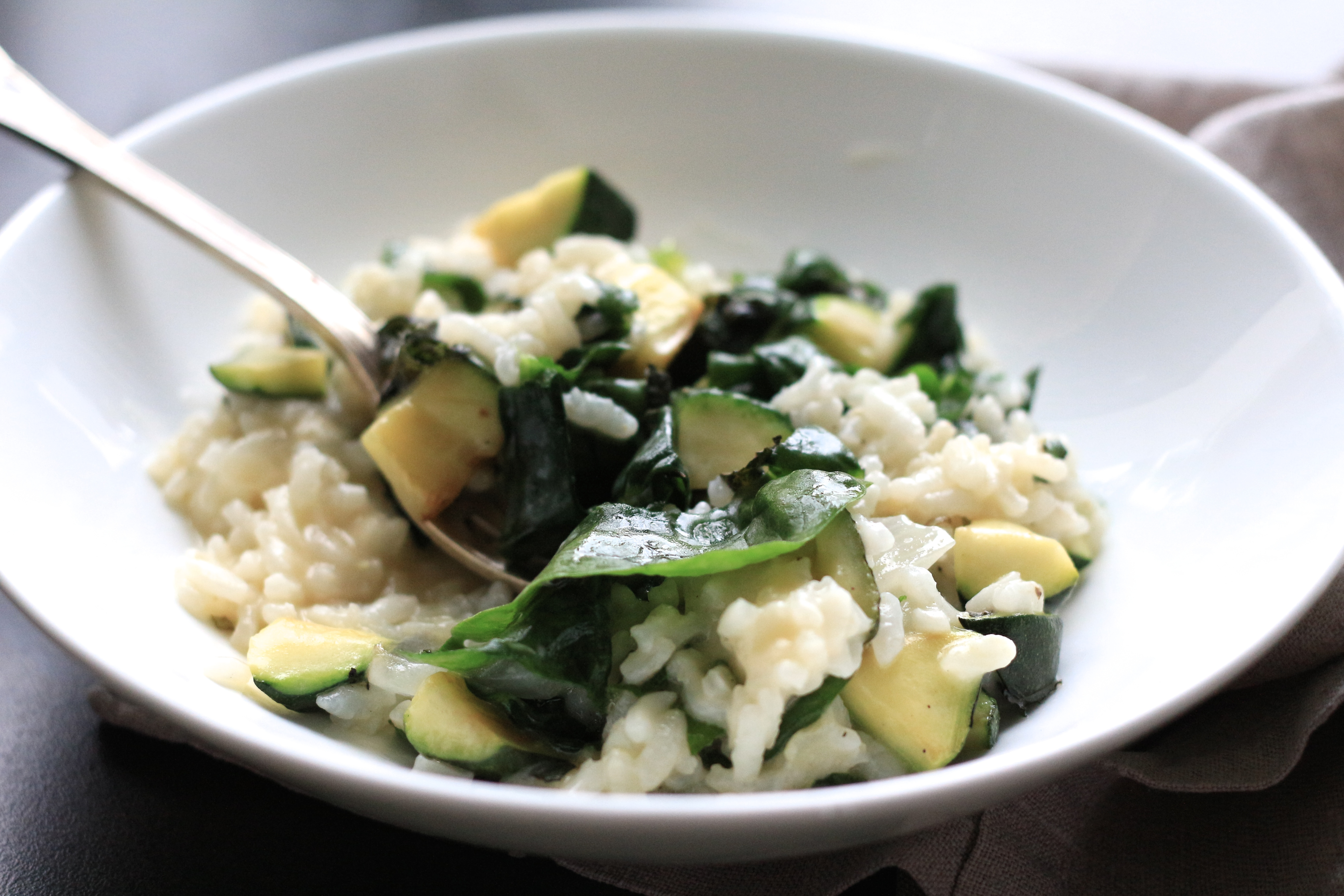 Risotto courgette et menthe / Mint and courgette risotto