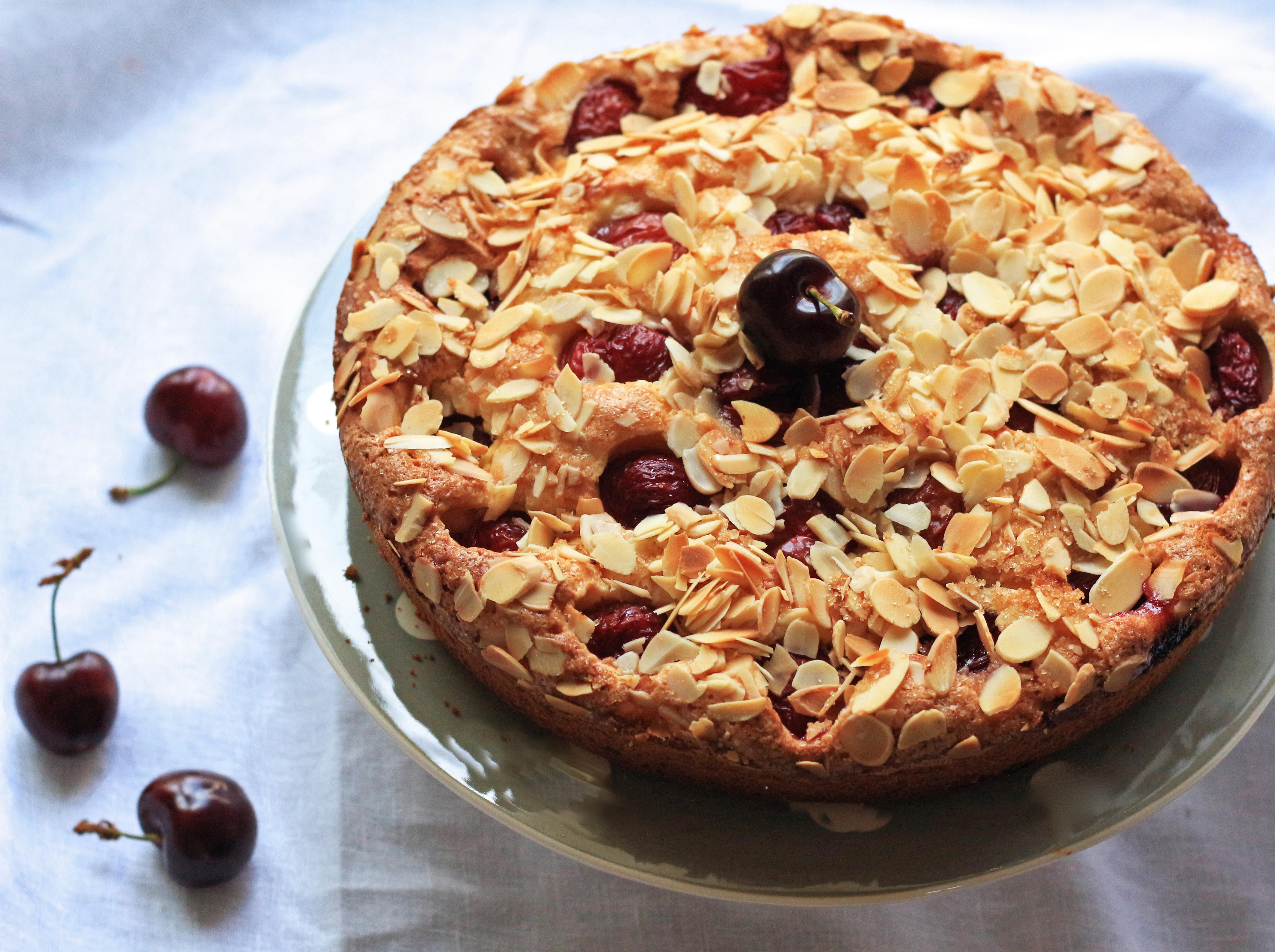 Cherry & ricotta cake - gâteau cerise&ricotta