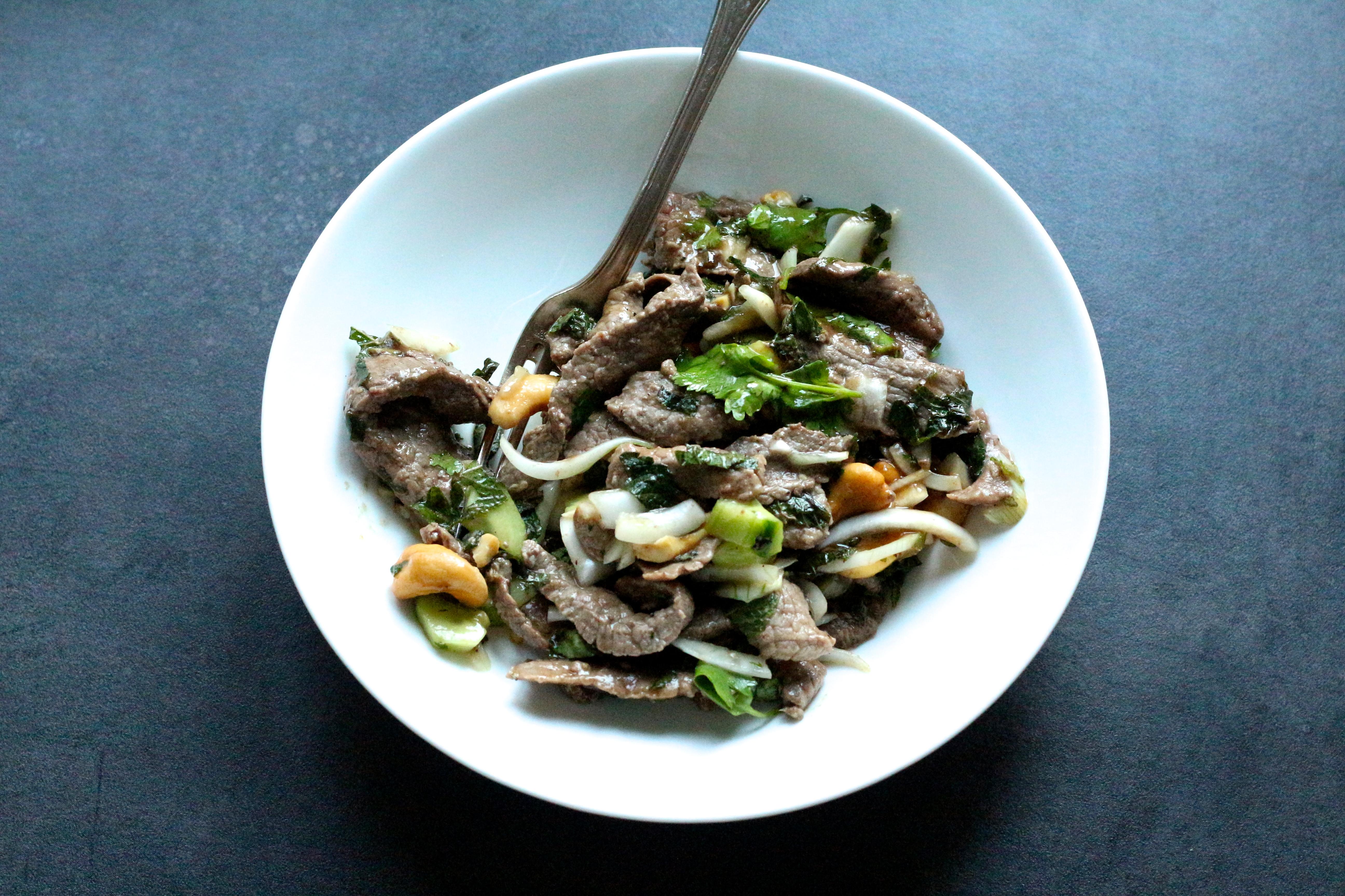 Salade de boeuf thaï / beef thaï salad