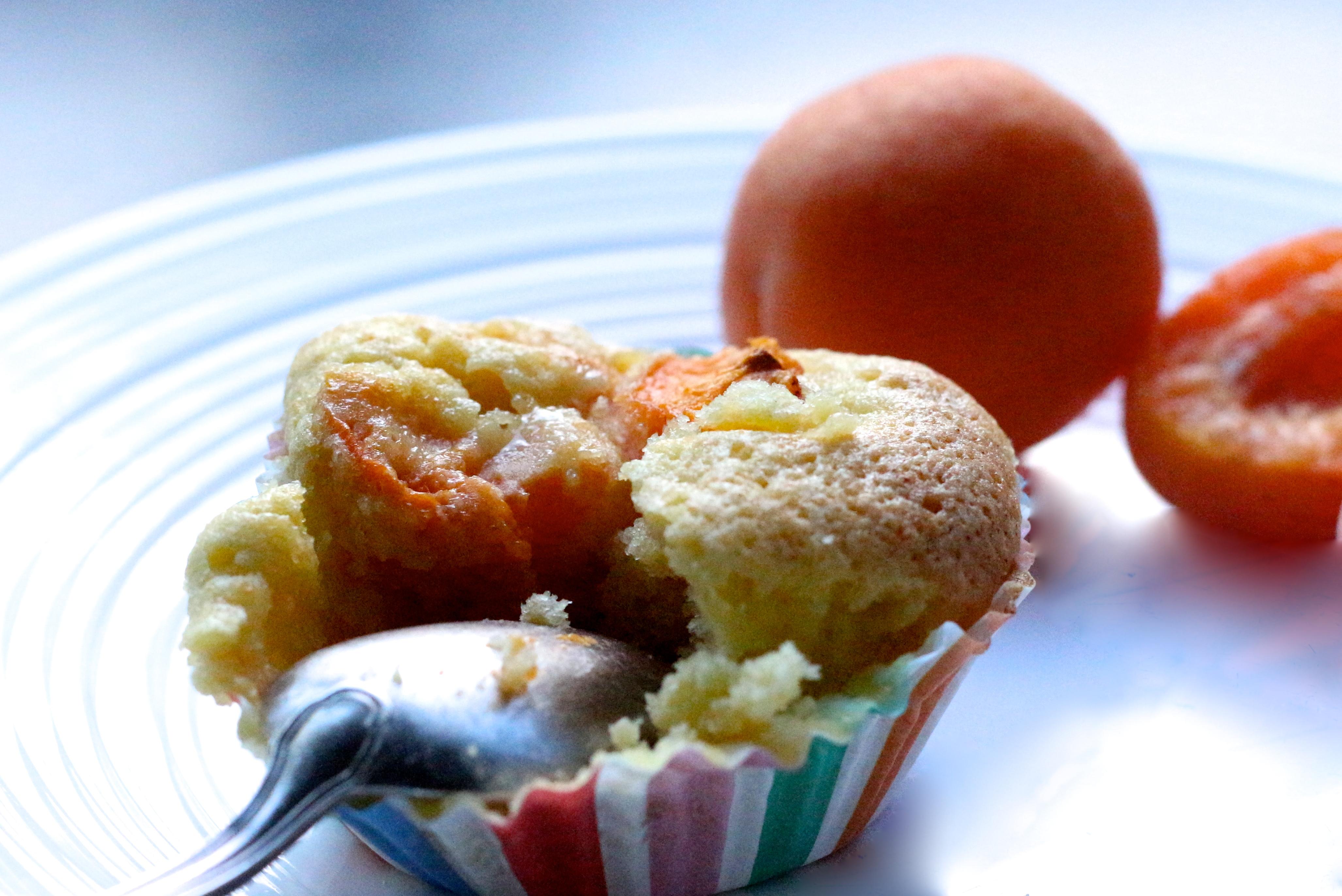 Muffins à l'abricot et à l'huile d'olive