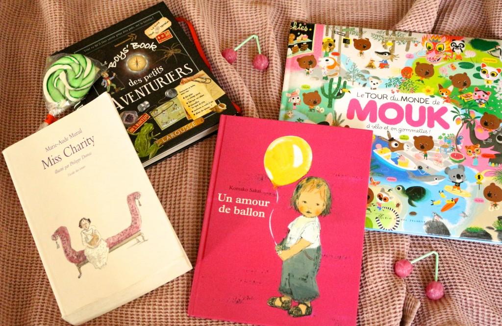 Miss Charity, Un amour de ballon, Le Boys'book des petits aventuriers, Le tour du monde de Mouk - Sweet Cabane