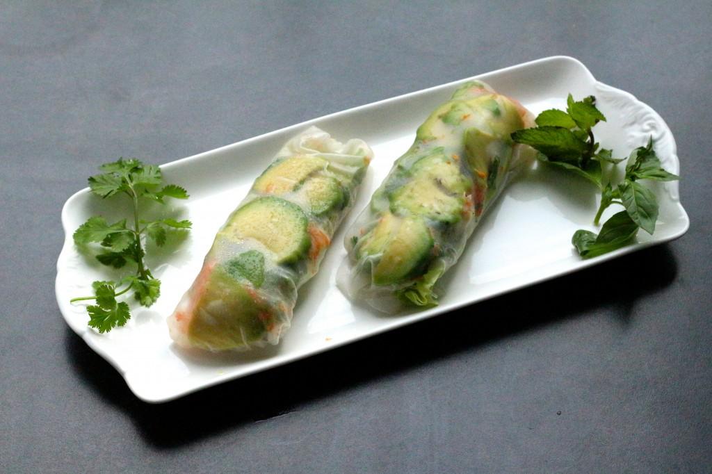 rouleaux de printemps végétariens- vegan spring rolls - Sweet Cabane