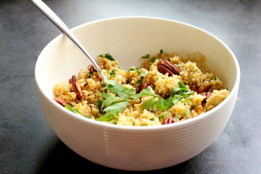 salade de millet, butternut, persil et noix de pécan - Sweet Cabane