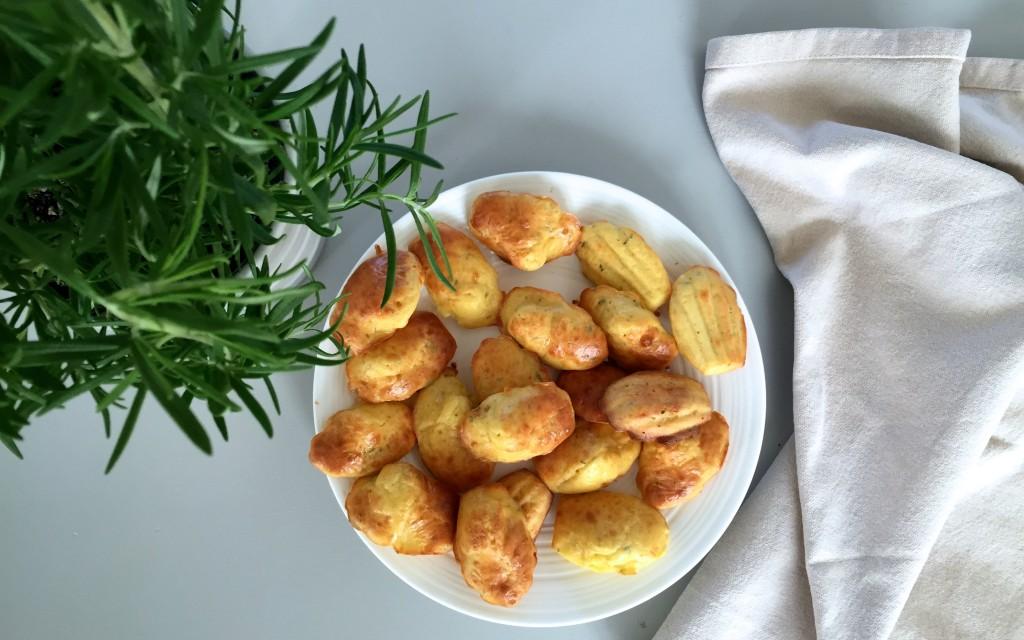 Madeleines au parmesan et au romarin - Sweet Cabane