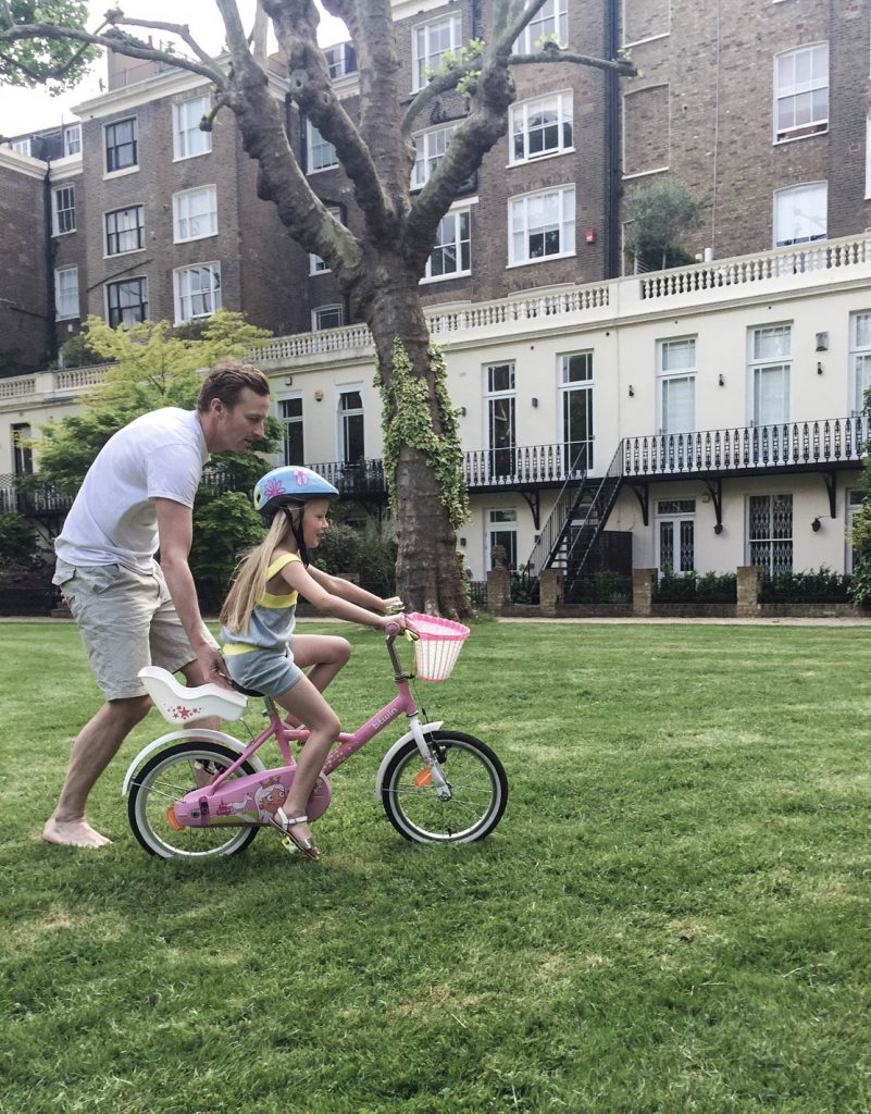 Bicycle training in Maida Vale Private Gardens