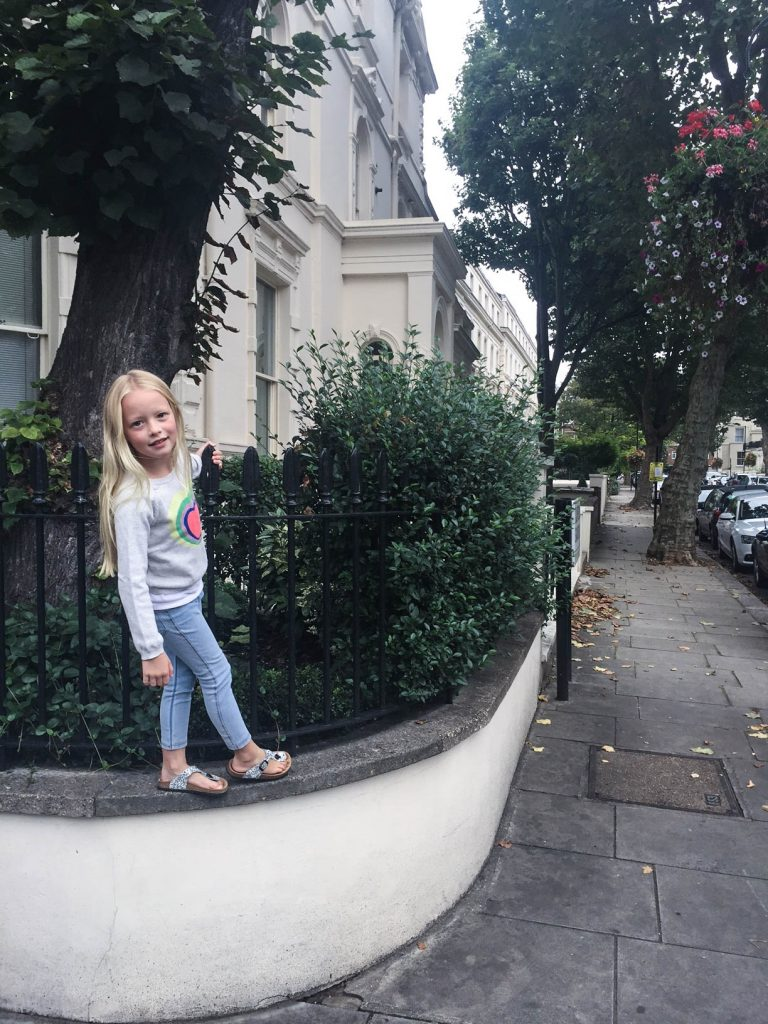 Claudia in Maida Vale's streets